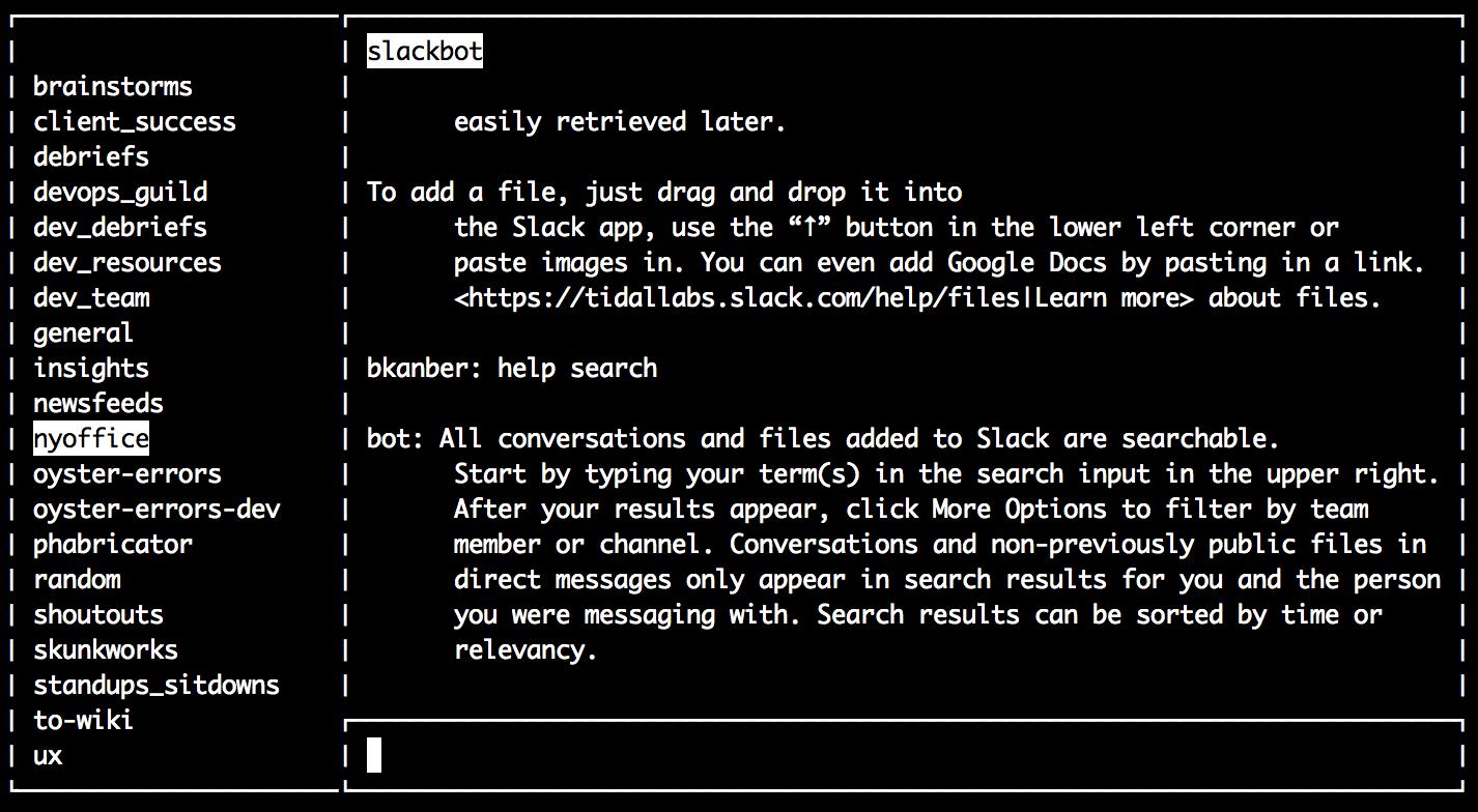 Slacker, a Slack CLI